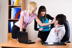 Tre donne di affari graziose fotografia stock