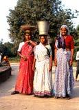 Tre donne indiane, Delhi Fotografia Stock Libera da Diritti