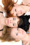 Tre donne premurose Fotografie Stock Libere da Diritti