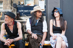 Tre eccentrici a Londra Fotografie Stock
