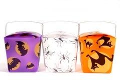 Tre elementi portanti cinesi della caramella di Halloween Fotografie Stock Libere da Diritti