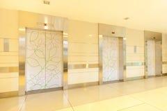 Tre elevatori Fotografia Stock