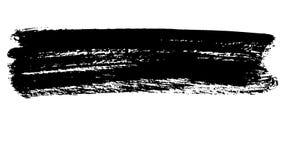 Tre episodi dei colpi dipinti a mano della spazzola dell'inchiostro nero astratto illustrazione di stock