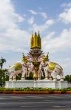 Tre Erawan statyer Royaltyfria Foton