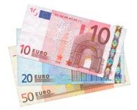 Tre euro banconote fotografia stock libera da diritti