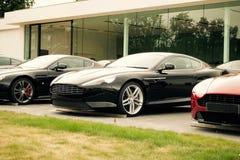 Tre exklusiva bilar Royaltyfri Bild