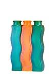 Tre exklusiva flaskor Arkivbild