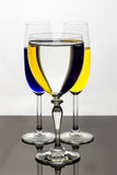 Tre exponeringsglas, tre band Royaltyfria Bilder