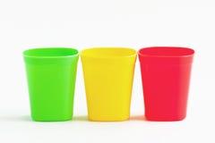 Tre färg för kopp tre. Royaltyfri Foto