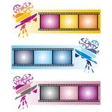 Tre färgrika baner Arkivbilder