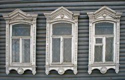 tre fönster Fotografering för Bildbyråer