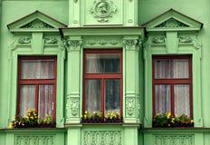 tre fönster royaltyfri foto