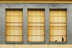 tre fönster Royaltyfri Bild