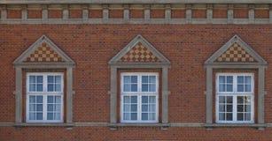 tre fönster Royaltyfria Foton
