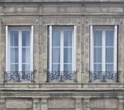 tre fönster Arkivbilder