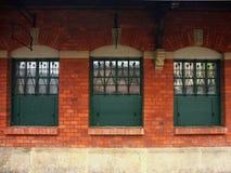 tre fönster royaltyfria bilder