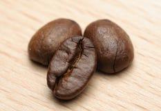 Tre fagioli di Coffe Fotografia Stock