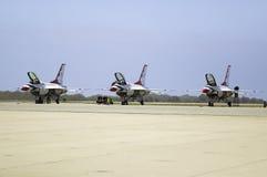 Tre Falcons di combattimento di F-16C Immagine Stock