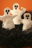 Tre fantasmi di Halloween Immagini Stock