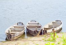 Tre fartyg Arkivfoto