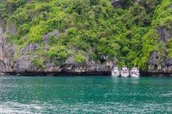 Tre fartyg Royaltyfria Foton