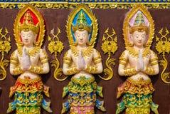 Tre felika statyer Royaltyfri Fotografi