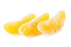 Tre fette di arancio isolate su bianco Fotografia Stock Libera da Diritti