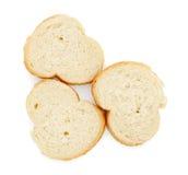 Tre fette di baguette Immagini Stock