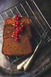 Tre fette di dolce di cioccolato Fotografie Stock
