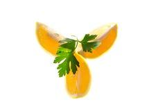 Tre fette di limone Fotografie Stock Libere da Diritti