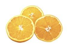 Tre fette di orange2 Fotografie Stock Libere da Diritti