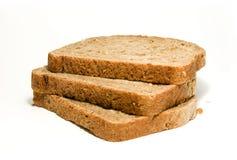 Tre fette di pane marrone Fotografie Stock