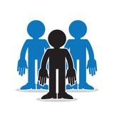 Tre figure persona fuori dal comune del gruppo Fotografie Stock Libere da Diritti