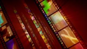 Tre file marroni di retro bande del film illustrazione vettoriale