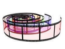 Tre filmstrips colorati illustrazione vettoriale