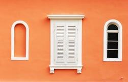 Tre finestre Immagine Stock