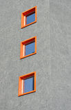 Tre finestre Fotografie Stock