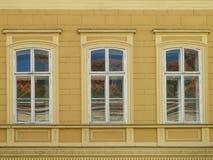Tre finestre con la riflessione Immagini Stock