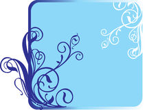 Tre fiori su una priorità bassa blu scuro. illustrazione di stock
