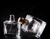Tre flaskor av dofter Arkivfoto