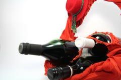 Tre flaskor av rött vin. Arkivfoton