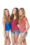 Tre flickavänner royaltyfri fotografi