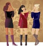 Tre flickor Arkivbilder