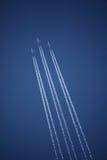 Tre flygplan i bildande royaltyfri fotografi