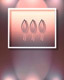 Tre fogli Fotografie Stock