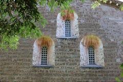 Tre Fontane Abbey en Roma Foto de archivo libre de regalías