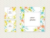 Tre fotoramar för din design vektor Royaltyfria Bilder