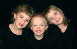 Tre fratelli germani Fotografia Stock