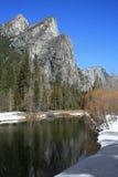 Tre fratelli nella sosta nazionale del Yosemite Fotografia Stock Libera da Diritti