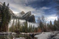 Tre fratelli, Yosemite Fotografia Stock Libera da Diritti
